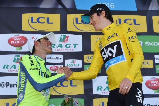 13-03-2016 Paris - Nice; Tappa 08 Nice - Nice; 2016, Team Sky; 2016, Tinkoff; Geraint, Thomas; Contador, Alberto; Nice;
