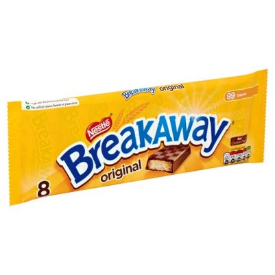 Nestle Breakaway Milk Chocolate Biscuit 8 Pack 152G