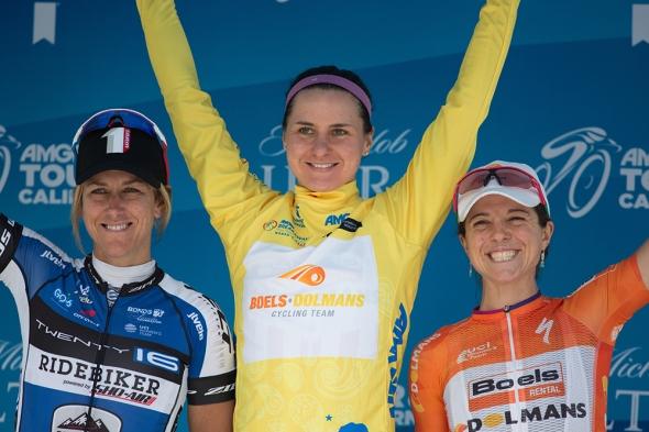 2016 Amgen Women's Tour of California: Guarnier podium