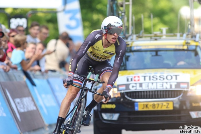 Stef Clement N Lotto-Jumbo rode a strong tt finishes 4th on the stage