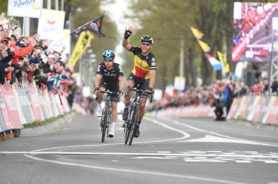 16-04-2017 Amstel Gold Race; 2017, Quick - Step Floors; 2017, Team Sky; Gilbert, Philippe; Kwiatkowski, Michal; Valkenburg;